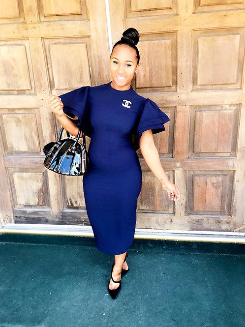 Carla Ruffled Midi Dress