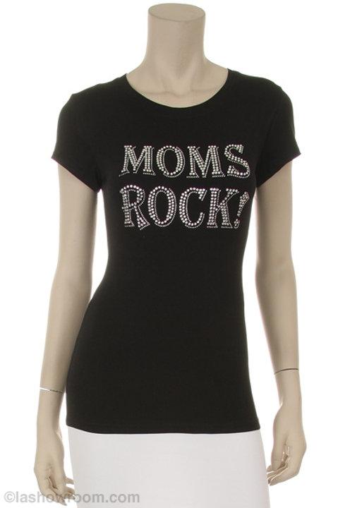 MOMS ROCK BLING TEE