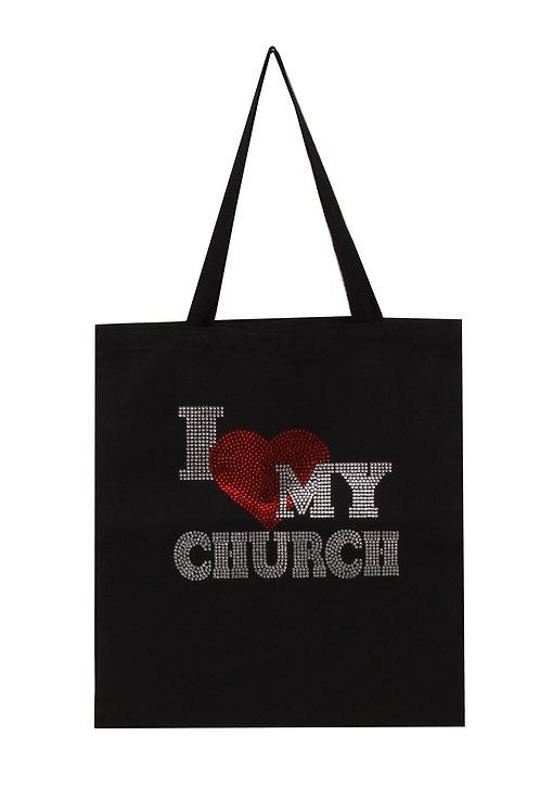 I Love My Church Tote