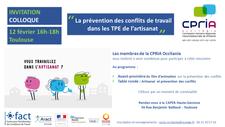12 Février 2019 - COLLOQUE ARTISANAT & PREVENTION DES CONFLITS - TOULOUSE