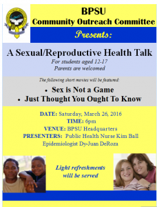 A Sexual/Reproductive Health Talk