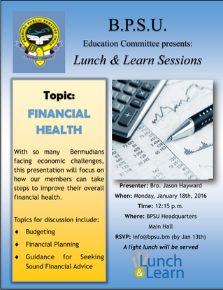 BPSU Lunch & Learn - Financial Health
