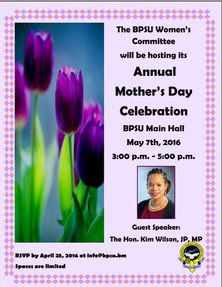 BPSU Women's Committee is hosting a Mother's Day Tea