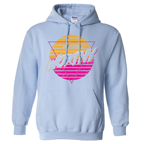 Special Edition Baby Blue Worthy hoodie