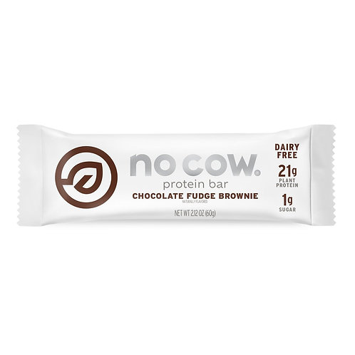 No Cow Bar, Chocolate Fudge Brownie Protein Bar