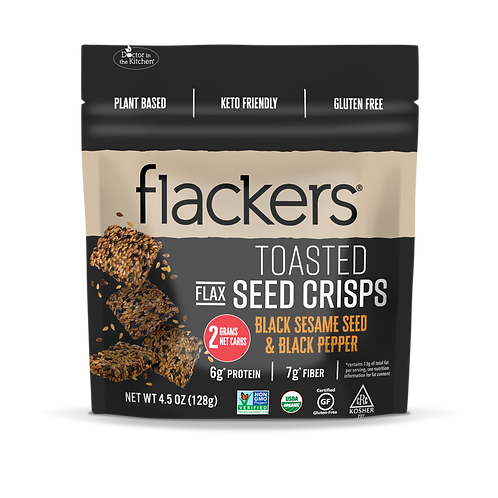 Flackers Black Sesame and Black Pepper Toasted