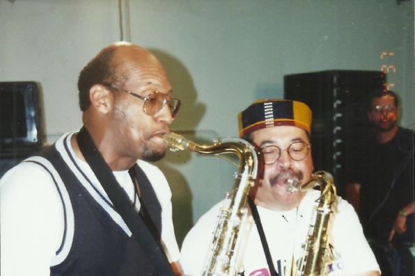 Bill Mason & Justo Amario rehearsing for