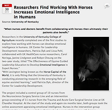 articles on equine assisted learning