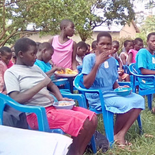 This picture was taken during one of our sanitary napkins distrubution to Elementary school girls.