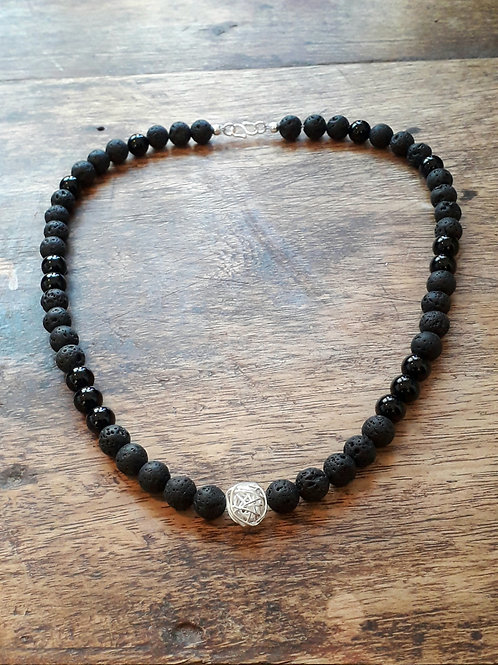 Lava/Onyx necklace