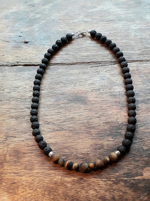 Lava/Matt Tiger eye necklace His or Hers