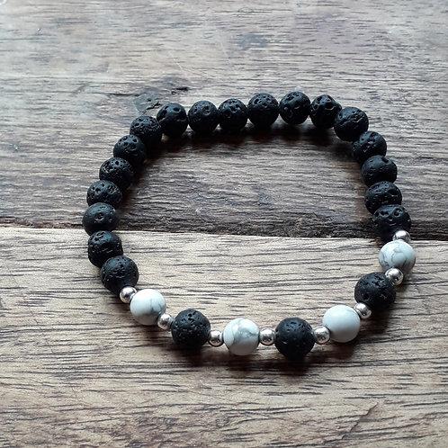 Lava/howlite bracelet