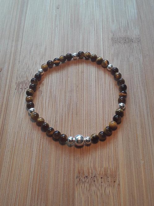 Tyger eye bracelets elasticated