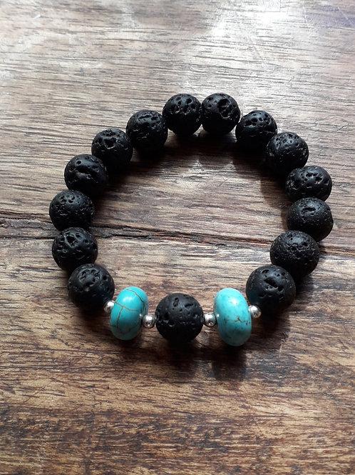 Lava/turquenite bracelet