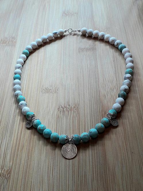 Jasper/howlite necklace