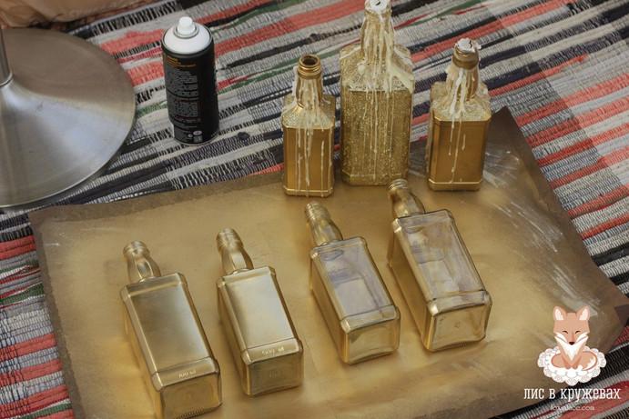 Идея для декора! Золото, свечи, глиттер!