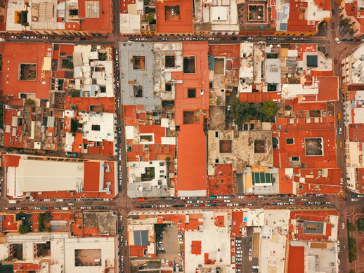 Aerial photo buildings