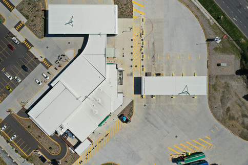 Aerial inspection top down view