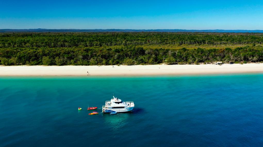 Aerial photo West Fraser Island