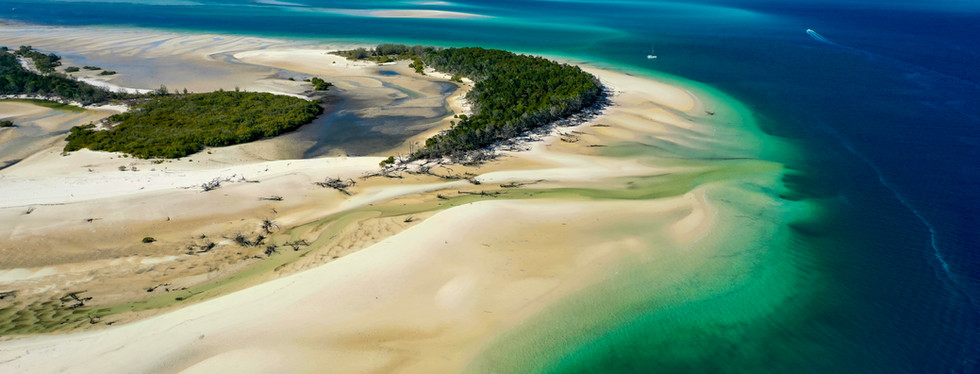 Aerial view of East Coast of Fraser Island