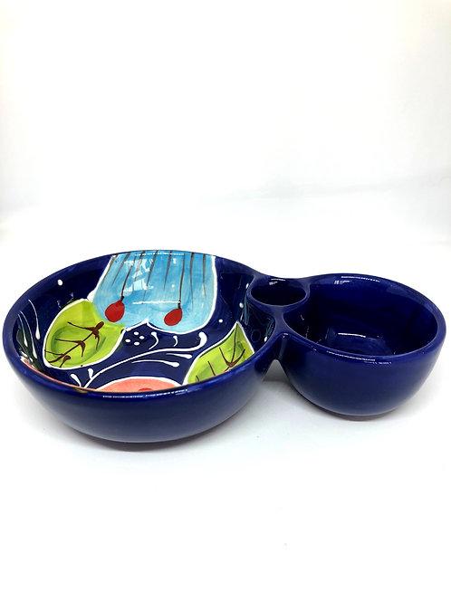 Ceramic Collection - Olive & Olive pit bowl 'Smiling Flower'