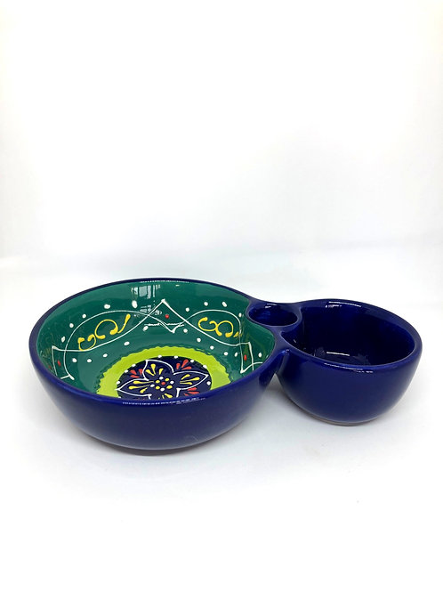 Ceramic Collection - Olive & Olive pit bowl 'Green Top'