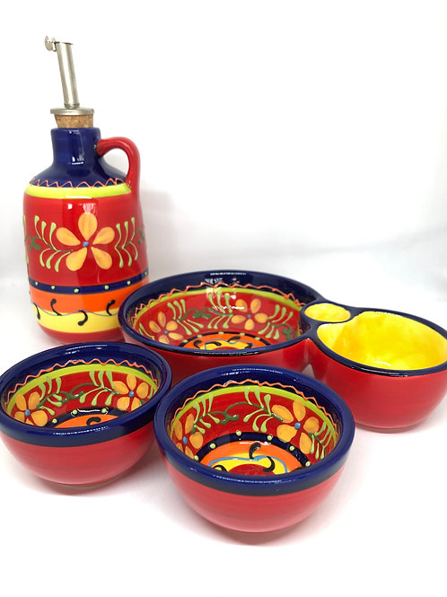 Ceramic Collection - Full set of 'Yellow Flower'