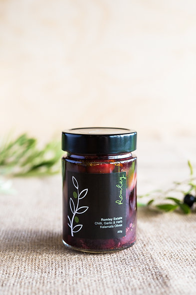 Garlic Chilli and Herb Kalamata Olives