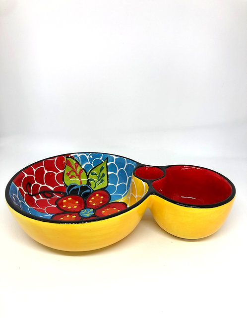 Ceramic Collection - Olive & Olive pit bowl 'Two Leaves'