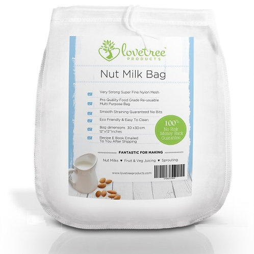 Hemp Nut Milk Bag+FREE RECIPES