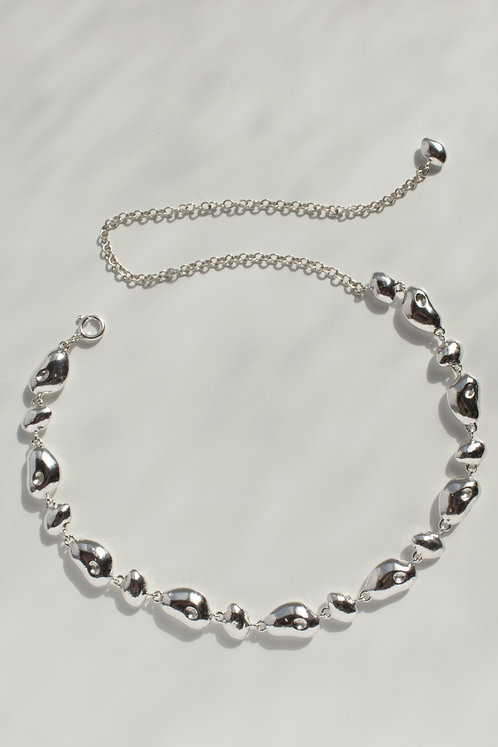 The Slow Song Choker Eco-friendly Silver