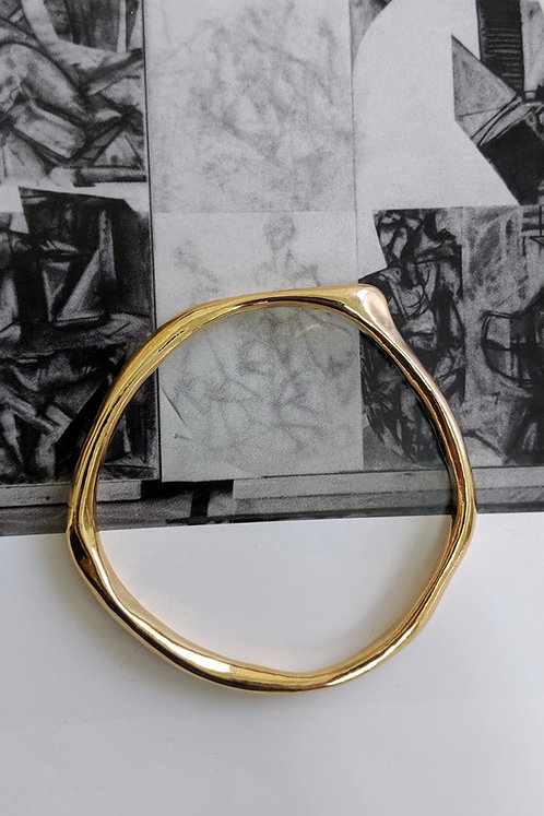 The Shape Of Sound Bangle Ethical Gold Plated