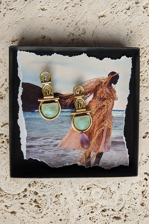 WS — The Subtle Window Earring in Tiffany Green (single) * from *