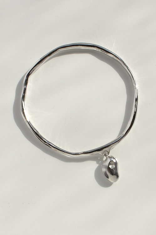 The Love Bead Bangle Eco-friendly Silver