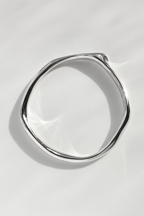 The Shape of Sound Bangle Eco-friendly Silver
