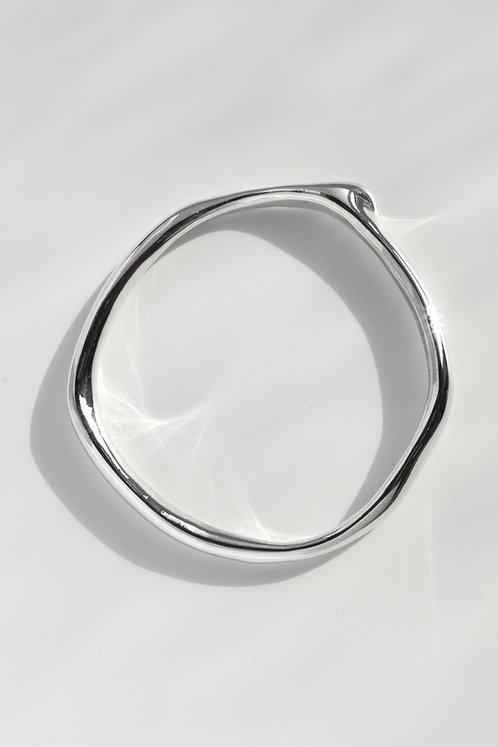 The Shape of Sound Bangle Eco-friendly Silver