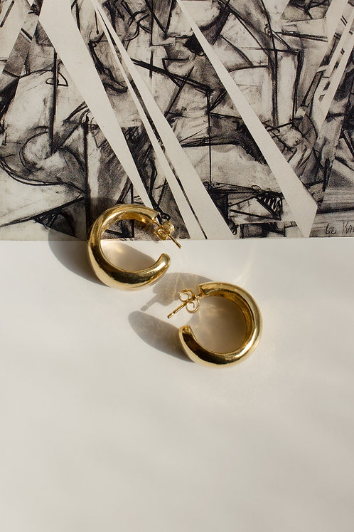 Cave & Echo Hoops Ethical Gold Plated