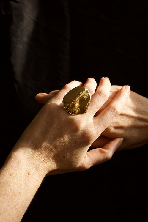 The Wishing Stone Ring Ethical Gold Plated