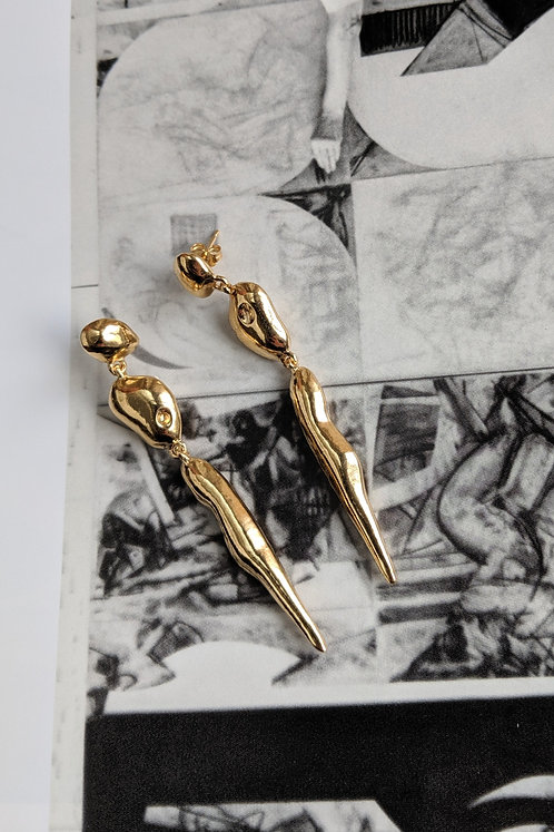 The Slow Lovers Earrings Ethical Gold Plated