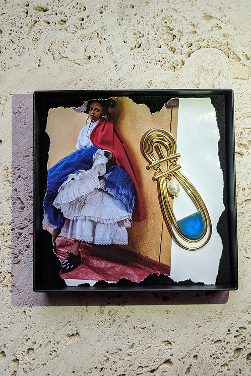 The Aphrodite Earring in Blue (single)