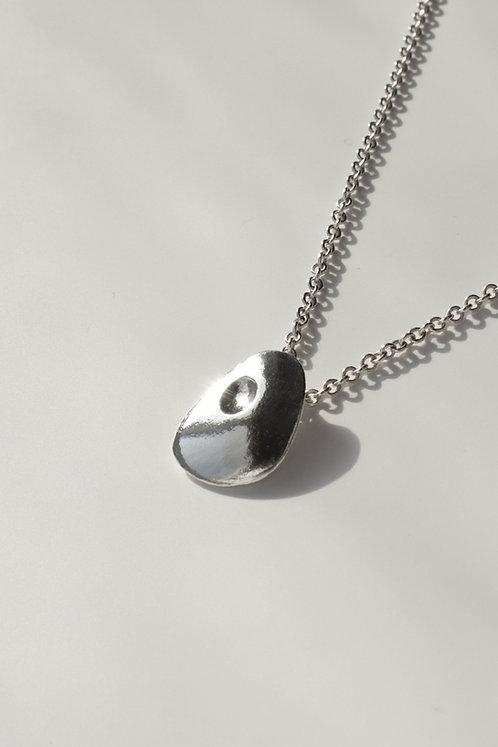 The Proud Pebble Pendant Eco-friendly Silver