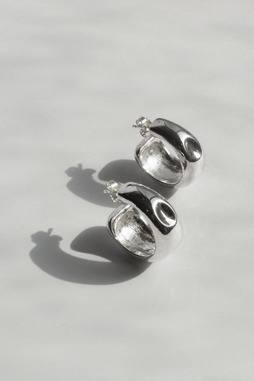 Cave & Echo Hoops Eco-friendly Silver