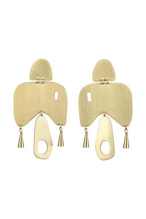 SIA Dove Earrings (Blue or Brushed Brass)