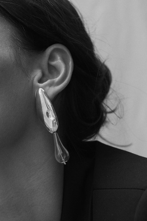The Whisper Earrings in Eco-Friendly Silver or Ethical Gold Plated Brass