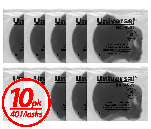 Universal 4521 Face Masks – 100% Cotton, Washable, Reusable Cloth Safety Masks