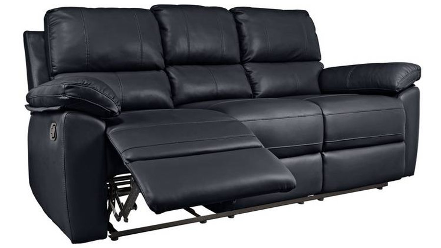 Toby 3 Seater Faux Leather Recliner Sofa