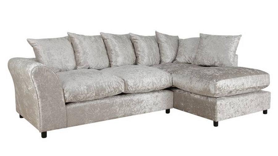 Megan RH Corner Chaise Silver Large