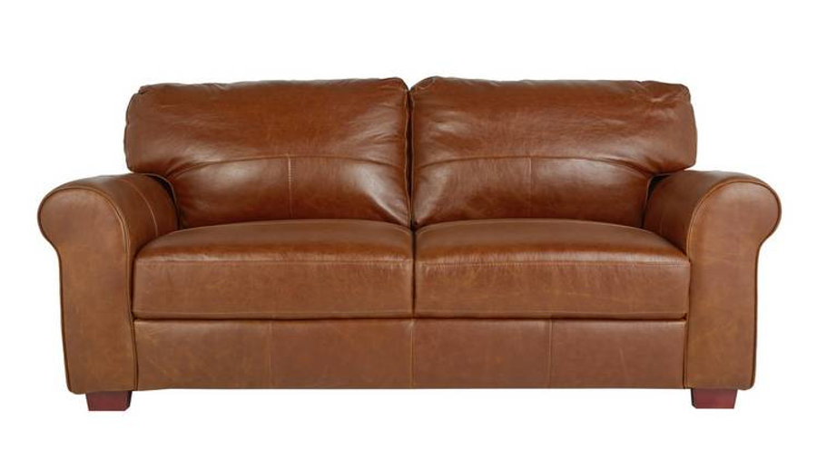 Habitat Salisbury 3 Seater Leather Sofa