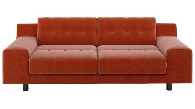 Habitat 4 Seater Velvet Orange
