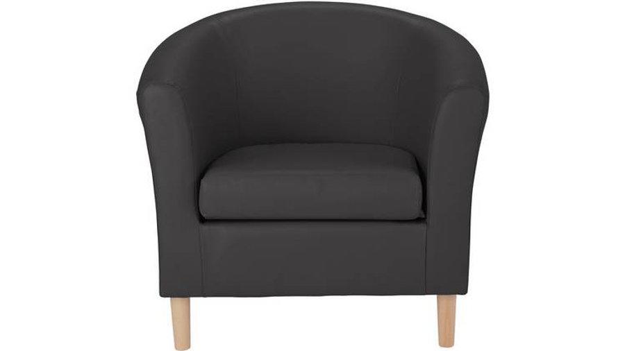 Habitat Faux Leather Tub Chair